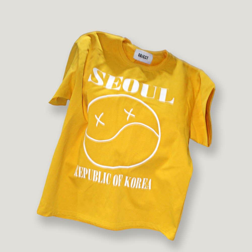 [OBJECT] SEOUL SMILE T-SHIRT (GOLD)