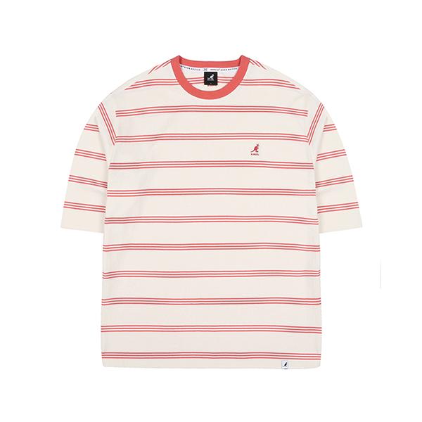 Stripe Oversized 3/4 Sleeves 6109 RED
