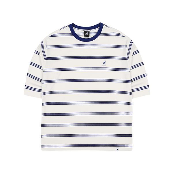 Stripe Oversized 3/4 Sleeves 6109 NAVY