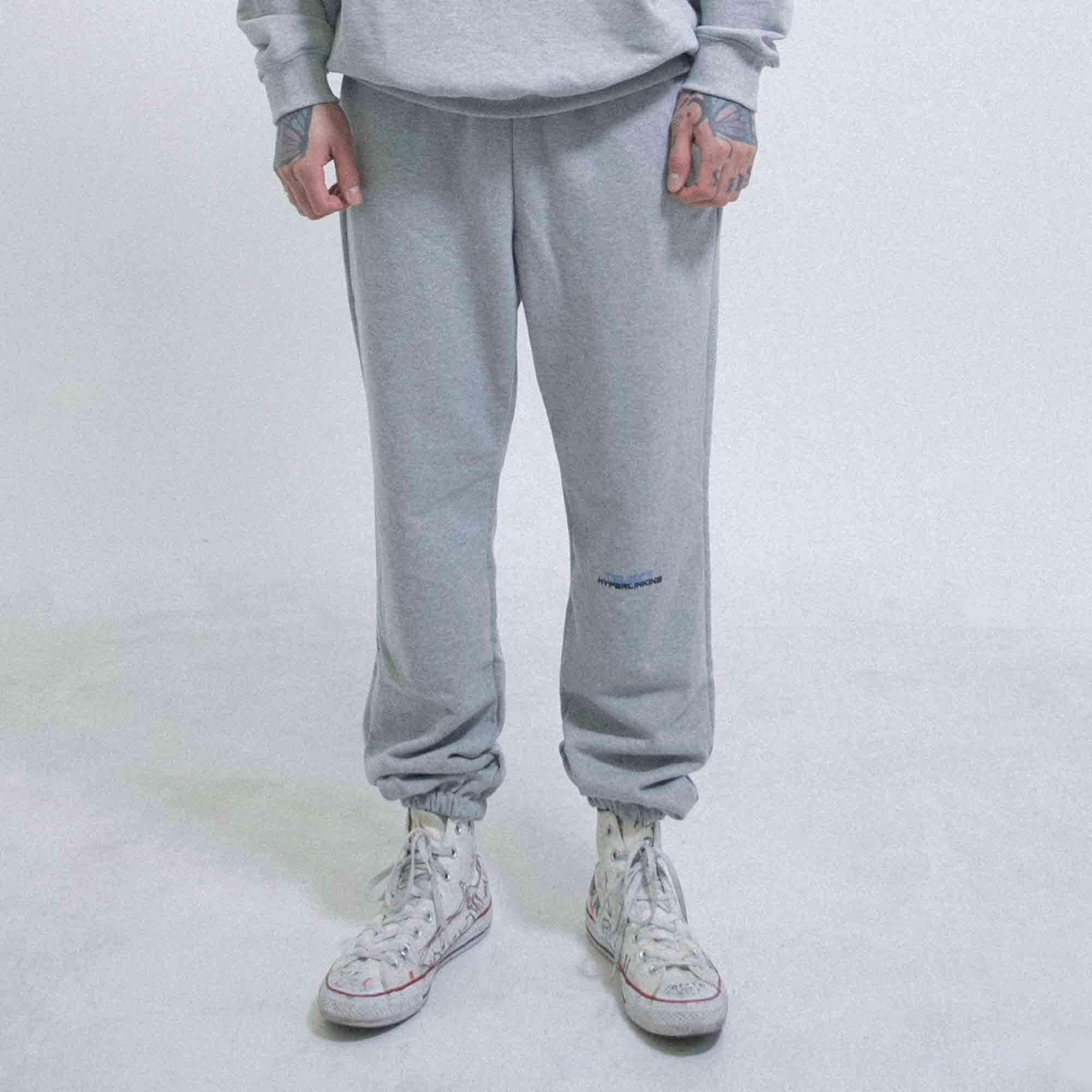 [OBJECT] HYPERLINKING SWEATPANTS (GRAY)