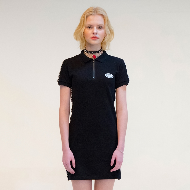 CHECKERBOARD PK DRESS BLACK