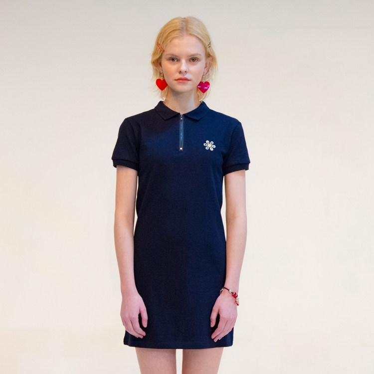 DAISY PK DRESS NAVY