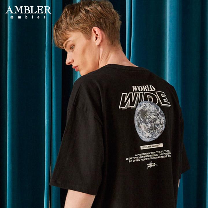 [엠블러]AMBLER 19SS 신상 반팔 티셔츠 AS602-블랙