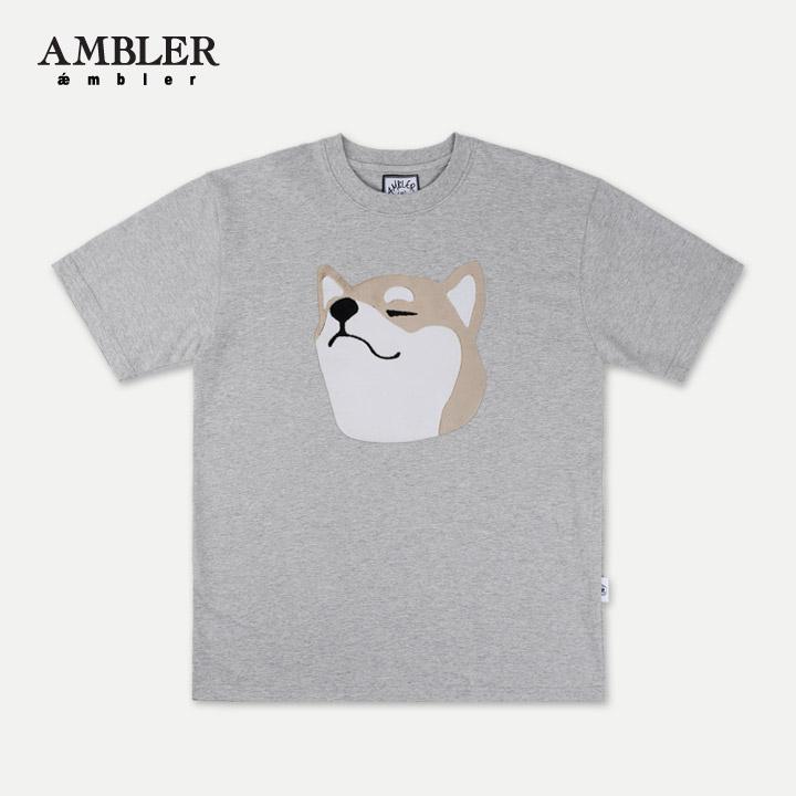 [엠블러]AMBLER 19SS 신상 시바이누 반팔 티셔츠 - 멜란지