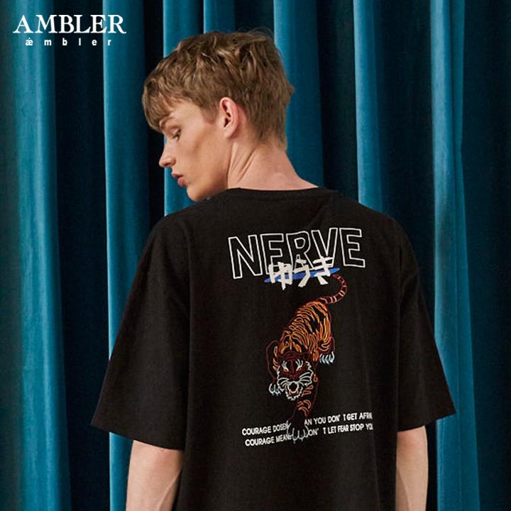[엠블러]AMBLER 19SS 신상 반팔 티셔츠 AS619-블랙