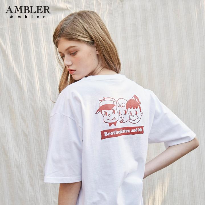 [엠블러]5/30일 예약배송 AMBLER 19SS 신상 반팔 티셔츠 AS620-화이트