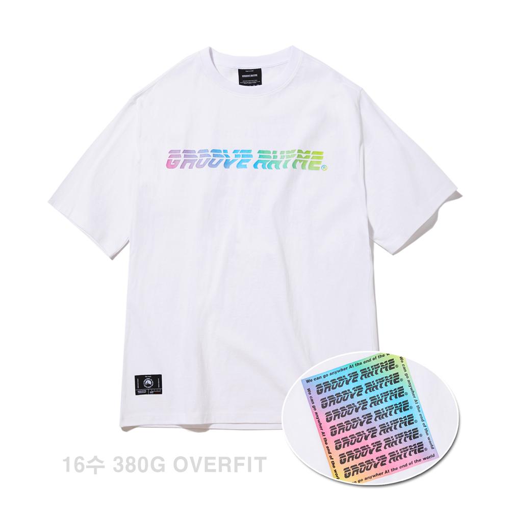 (16수 오버핏) COLOR LOGO PRINT OVER FIT T-SHIRTS (WHITE) [GTS008H23WH]