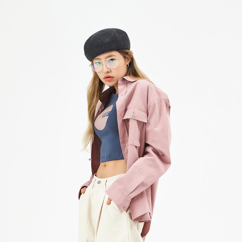 코튼 오버셔츠 자켓 (여자) (SBS2SH02) (PINK)