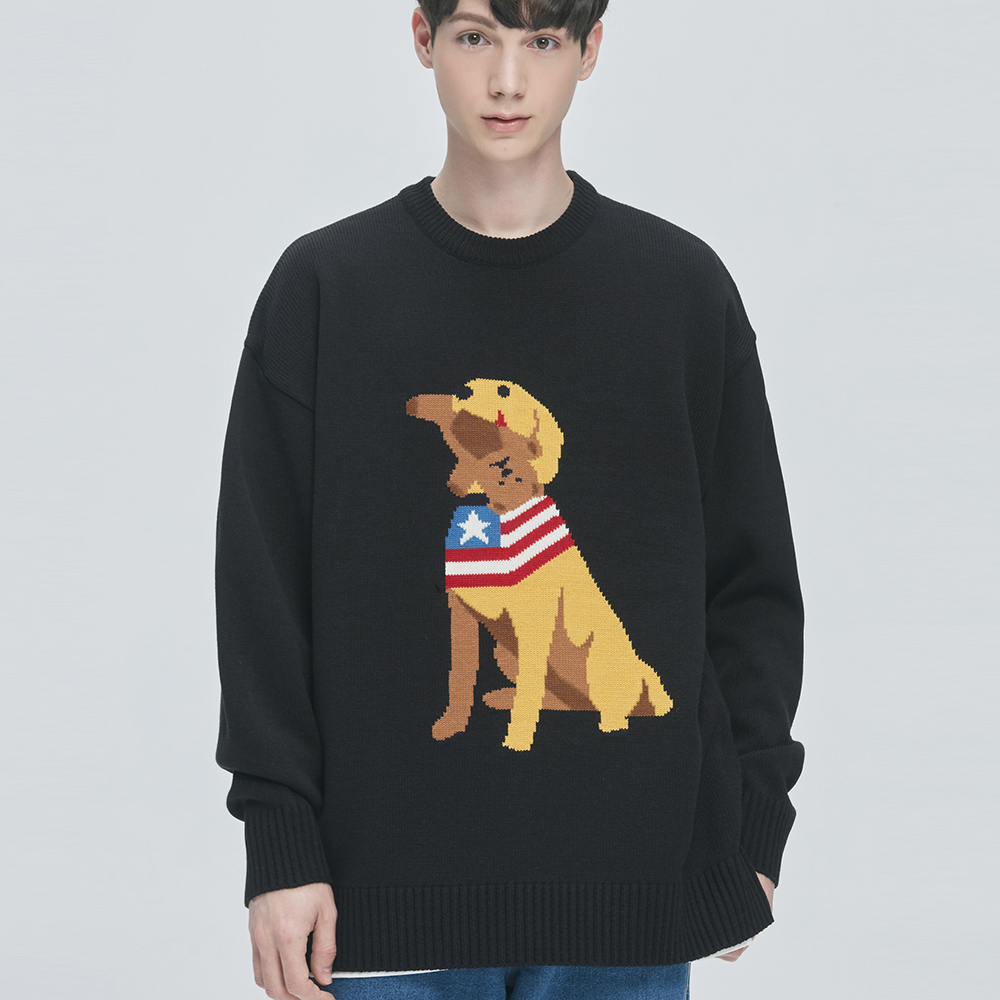 Retriever Bite Knit Sweater (black)