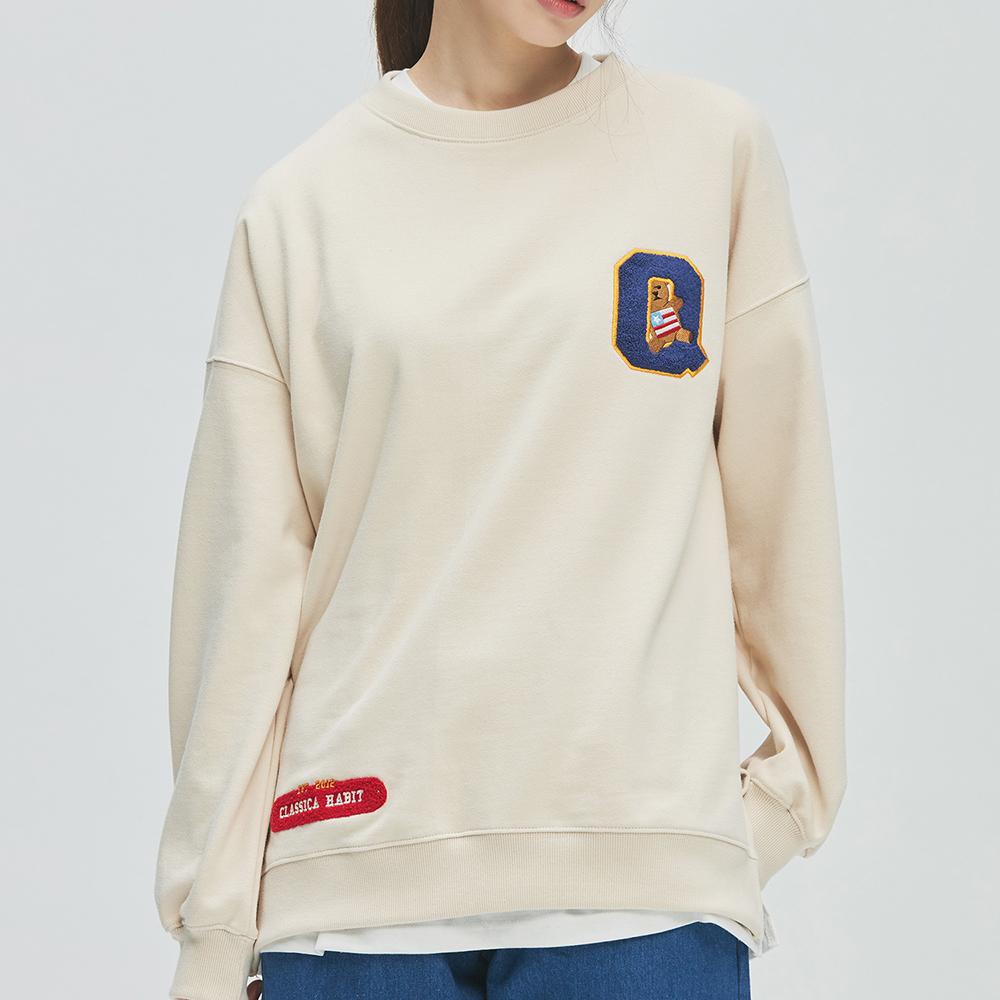 College-Bear Logo Sweat-Shirts (ivory)