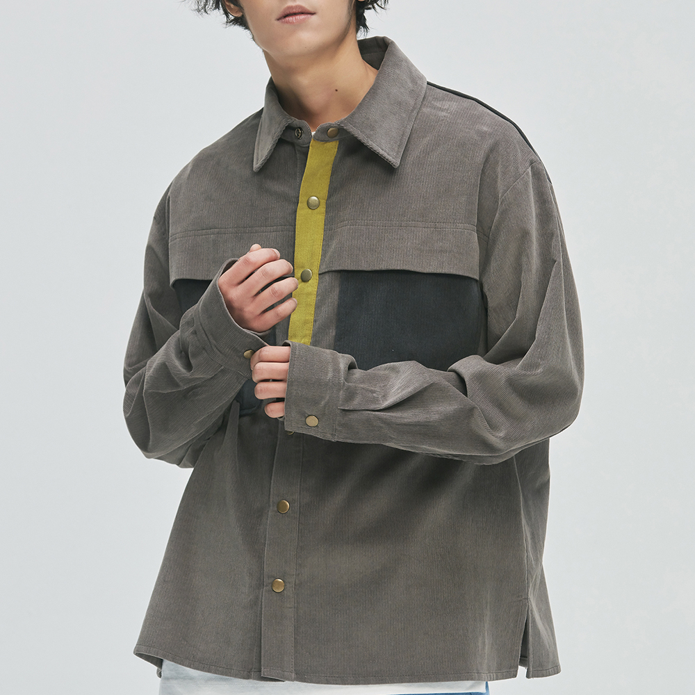 16's Corduroy Work Shirts-Jacket (gray)