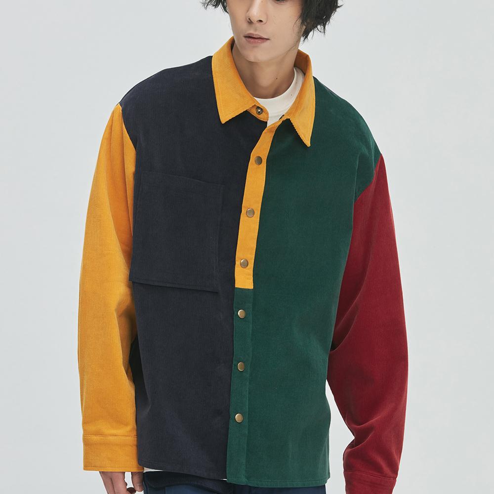 16's Corduroy Mix Shirts-Jacket (multi color)