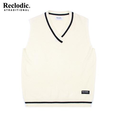 V-neck Overfit Knit Vest Ivory