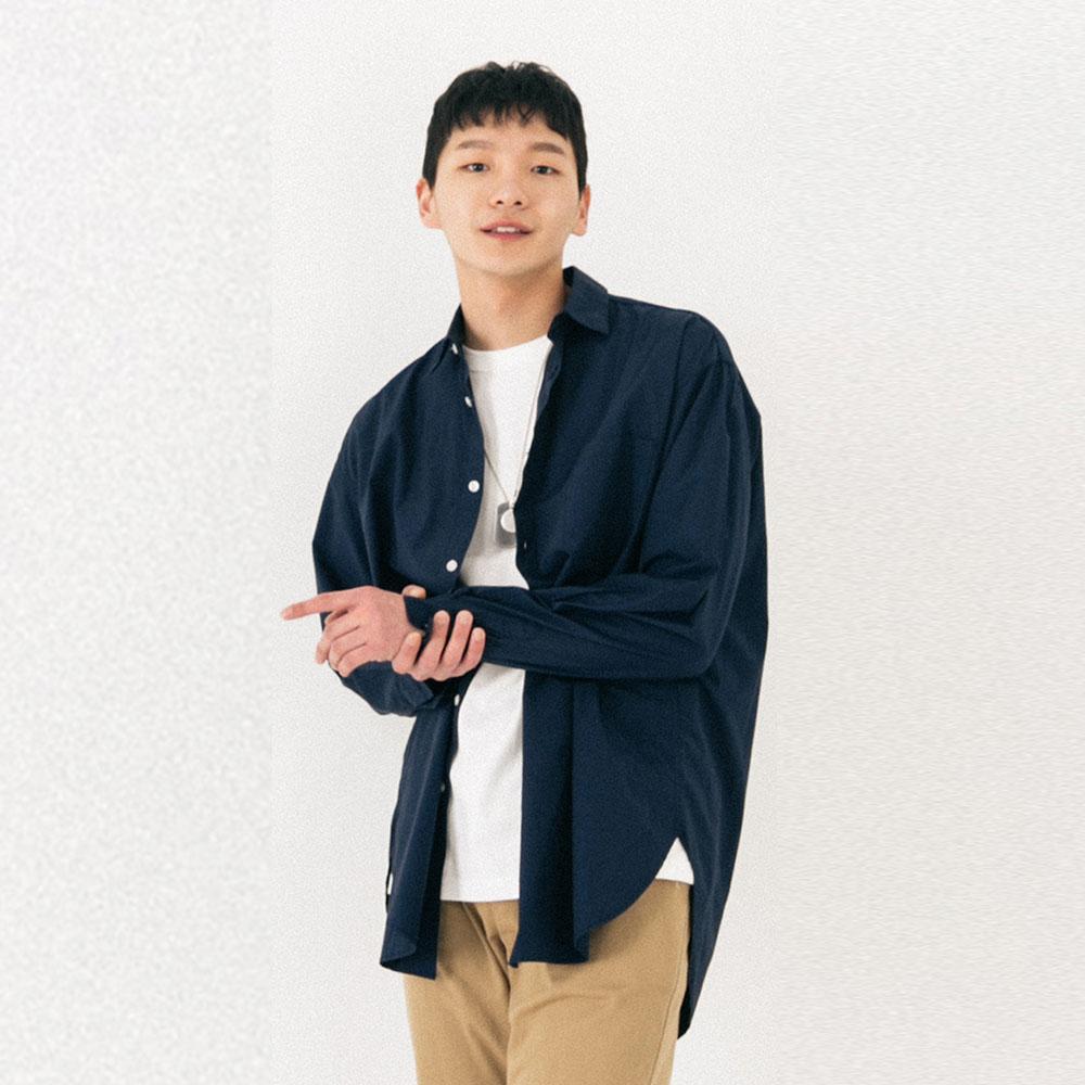 하쿠시 셔츠 (NAVY)