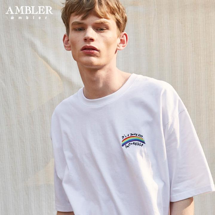 [엠블러]AMBLER 19SS 신상 반팔 티셔츠 AS607-화이트