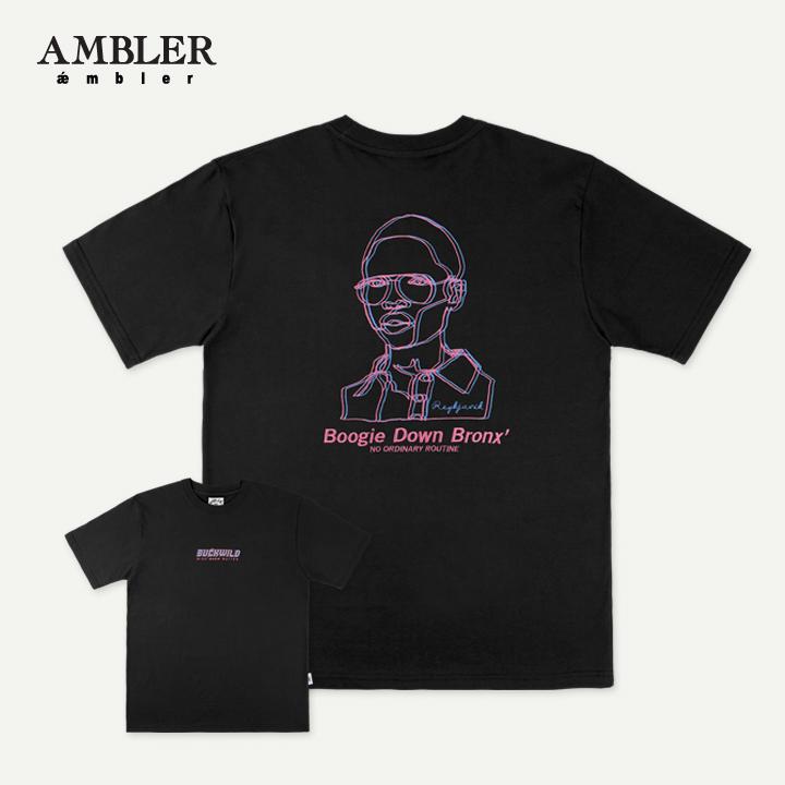 [엠블러]AMBLER 19SS 신상 반팔 티셔츠 AS608-블랙