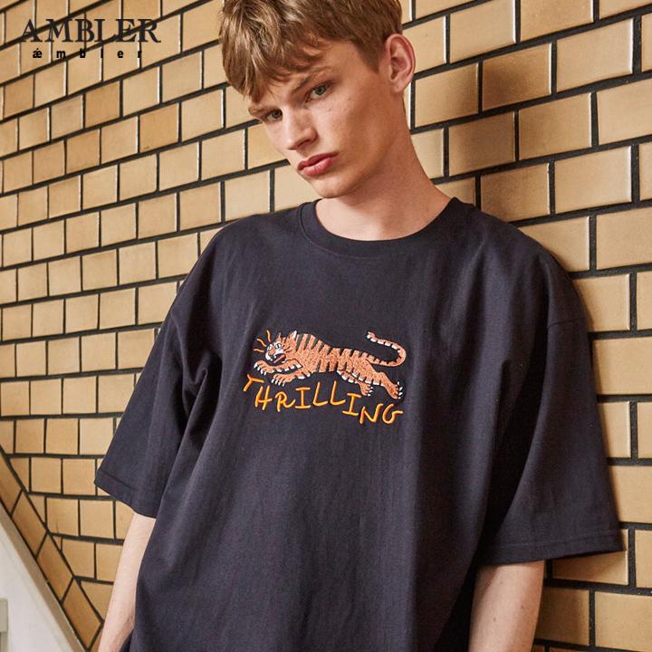 [엠블러]AMBLER 19SS 신상 반팔 티셔츠 AS610-네이비