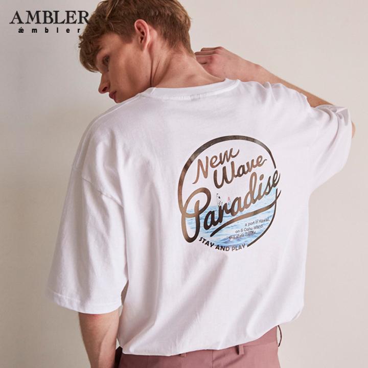 [엠블러]AMBLER 19SS 신상 반팔 티셔츠 AS614-화이트