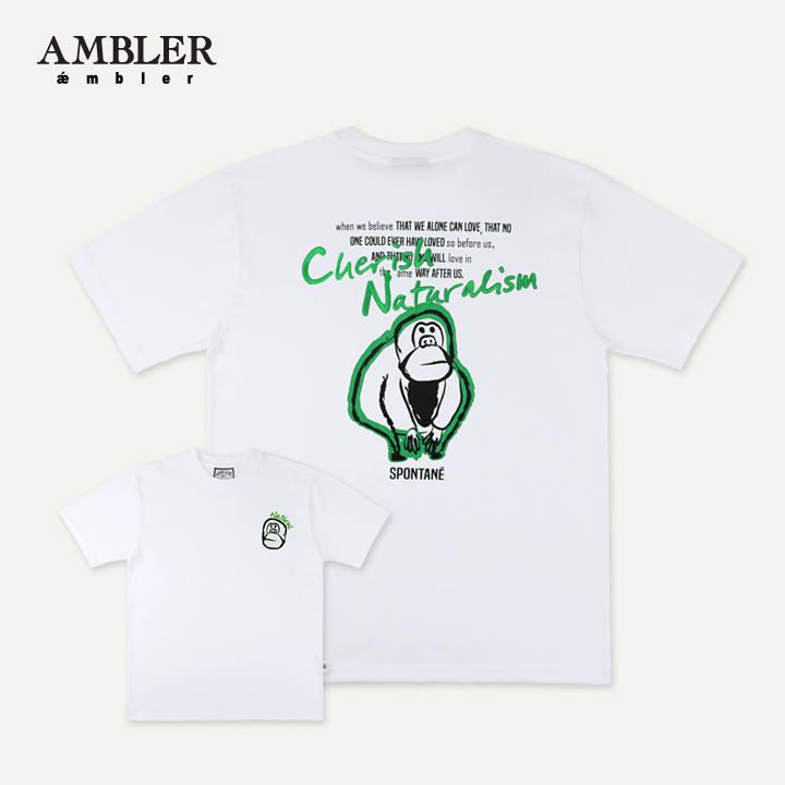 [엠블러]AMBLER 19SS 신상 반팔 티셔츠 AS617-화이트