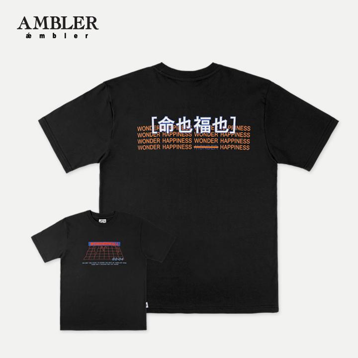 [엠블러]AMBLER 19SS 신상 반팔 티셔츠 AS621-블랙