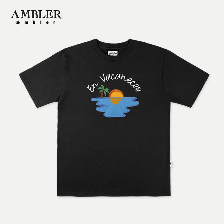 [엠블러]AMBLER 19SS 신상 반팔 티셔츠 AS623-블랙