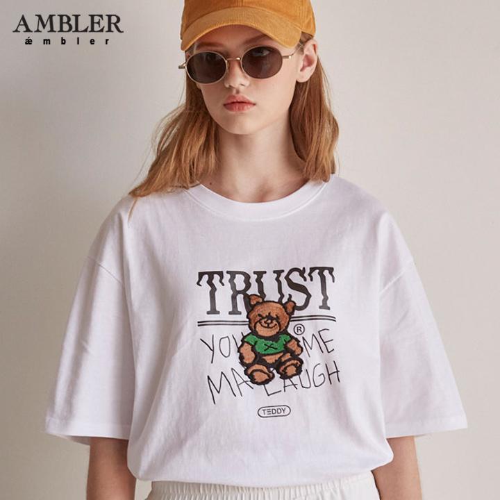 [엠블러]AMBLER 19SS 신상 반팔 티셔츠 AS627-화이트