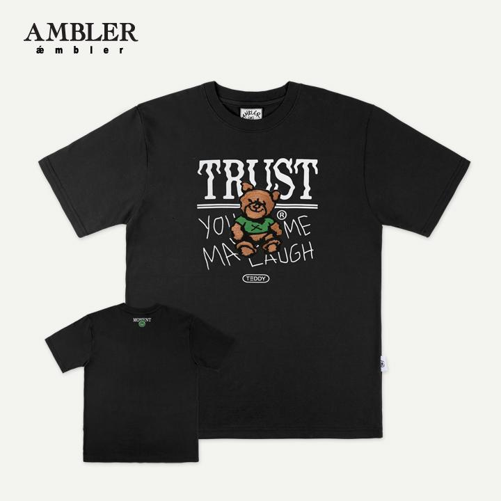 [엠블러]AMBLER 19SS 신상 반팔 티셔츠 AS627-블랙
