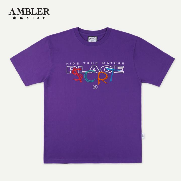 [엠블러]AMBLER 19SS 신상 반팔 티셔츠 AS629-퍼플