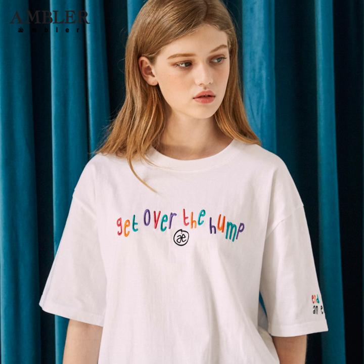 [엠블러]AMBLER 19SS 신상 반팔 티셔츠 AS630-화이트