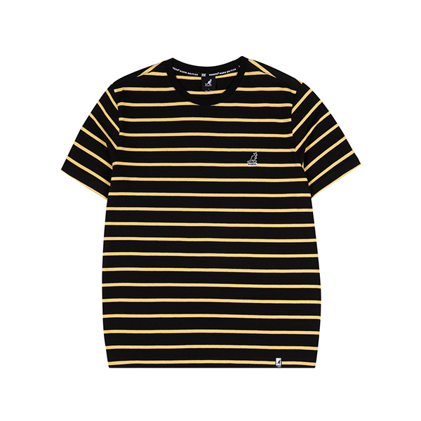 Basic Pin Stripe T-Shirt 2599 BLACK