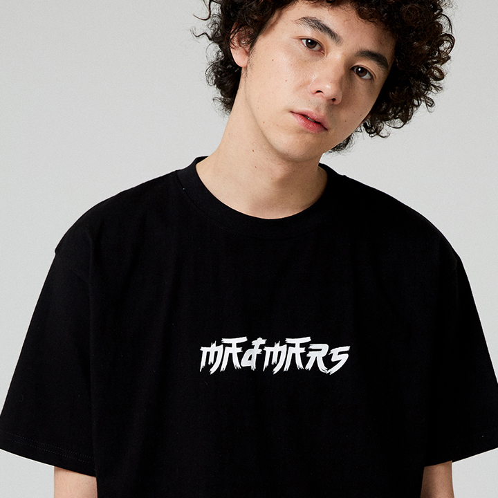 BRUSH LOGO T-SHIRT_BLACK