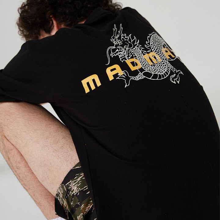 DRAGON EMBROIDERED T-SHIRT_BLACK