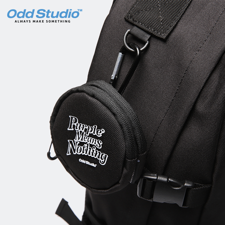 오드스튜디오 오디디 2포켓 코인 파우치 - BLACK