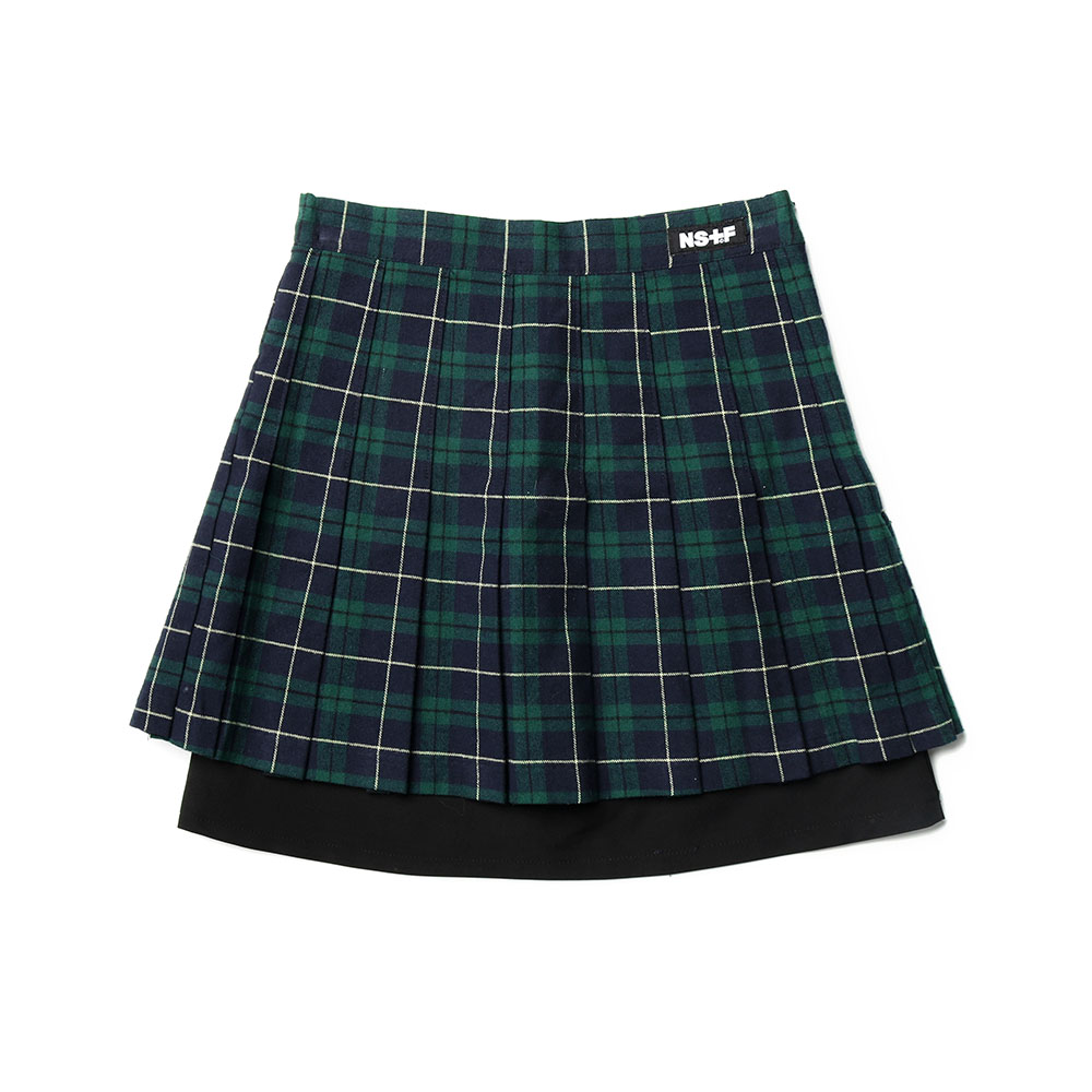 CHECK COMBI TENNIS SKIRT GREEN (NK19S034H)