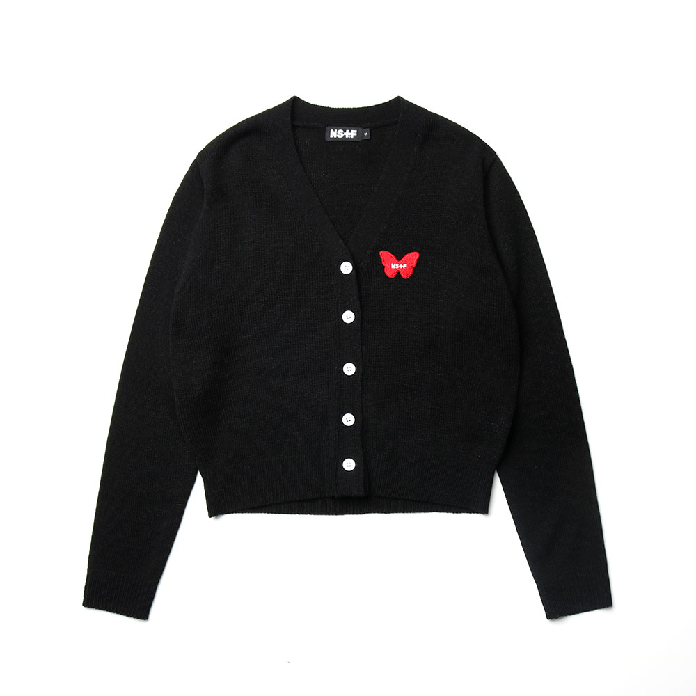 NSTF BUTTERFLY CARDIGAN BLK (NK19S026H)