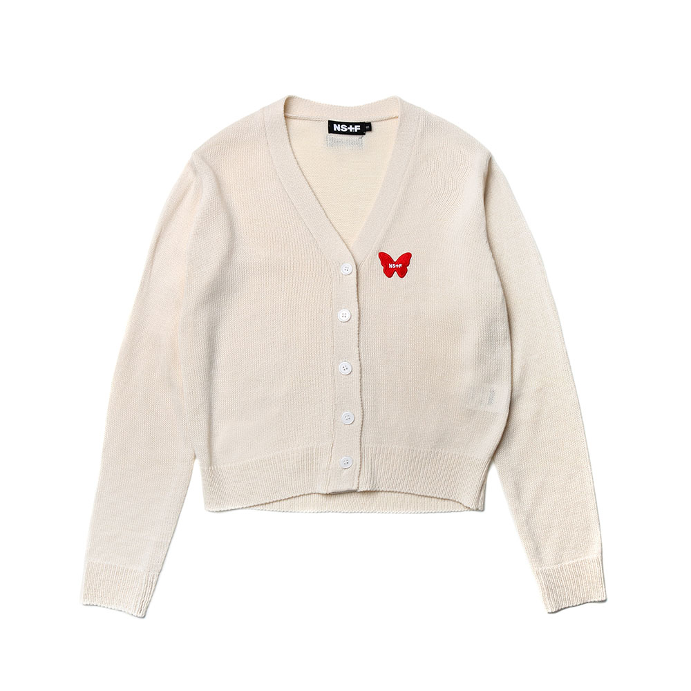 NSTF BUTTERFLY CARDIGAN IVORY (NK19S026H)