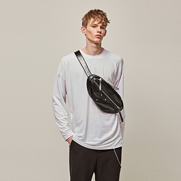 ROUND OVER LONG T-SHIRTS_WHITE