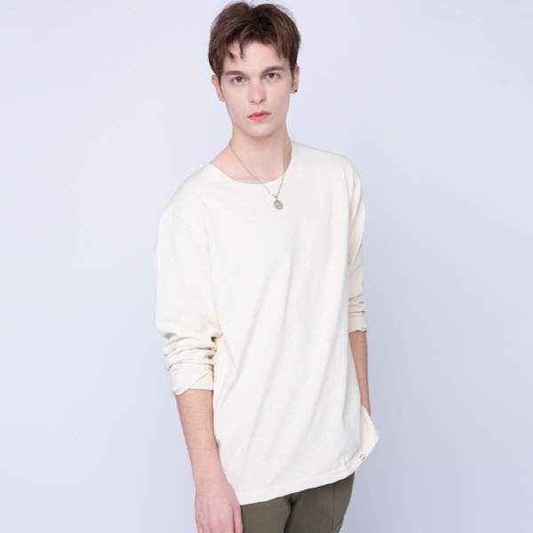 BOAT NECK SIMPLE TEE (베이지)