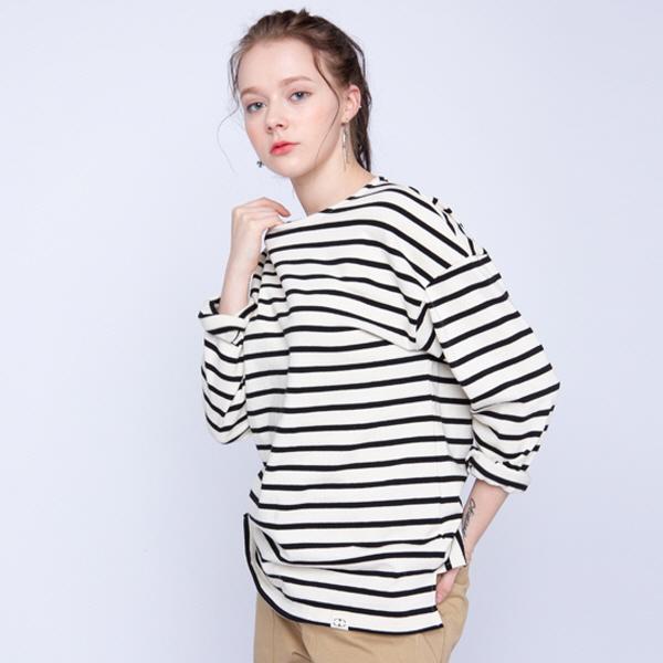 Stripe Boat Neck T-shirt (아이보리)