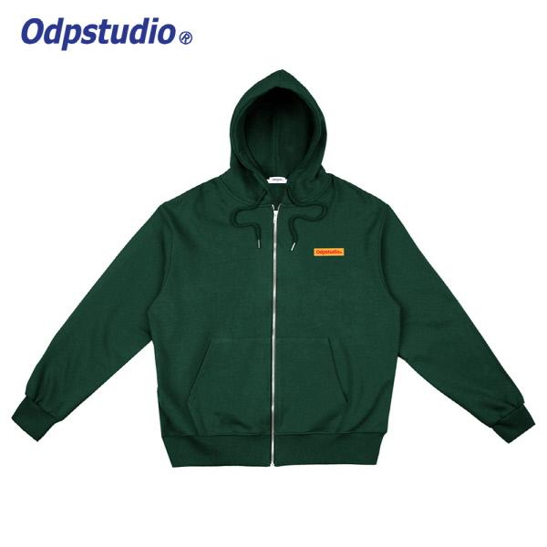 Odp Box Logo Hoodie Zipup Green