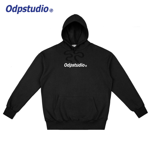 Odp Center Logo Hoodie Black