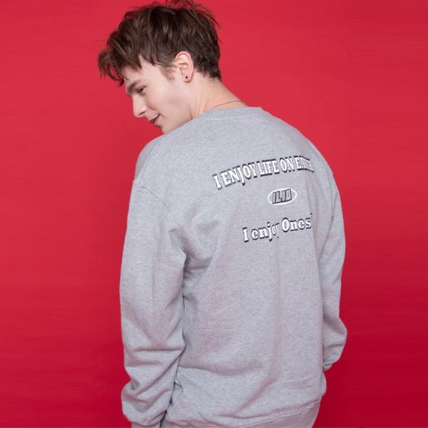 ILIO Print Sweat Shirt (그레이)