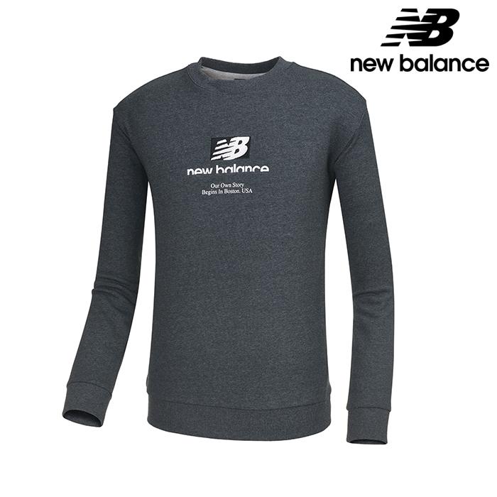 뉴발란스 NBNC739043-DG 공용 가을팩 맨투맨 티셔츠