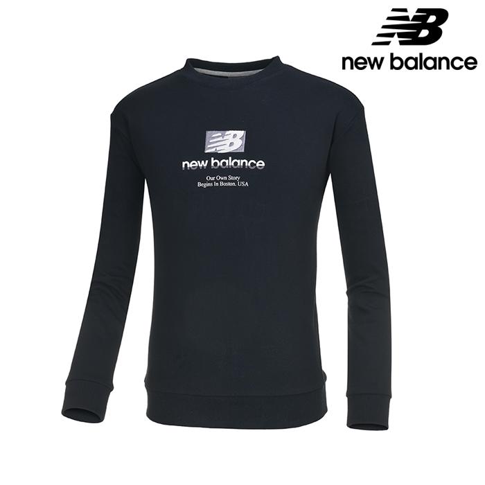 뉴발란스 NBNC739043-BK 공용 가을팩 맨투맨 티셔츠