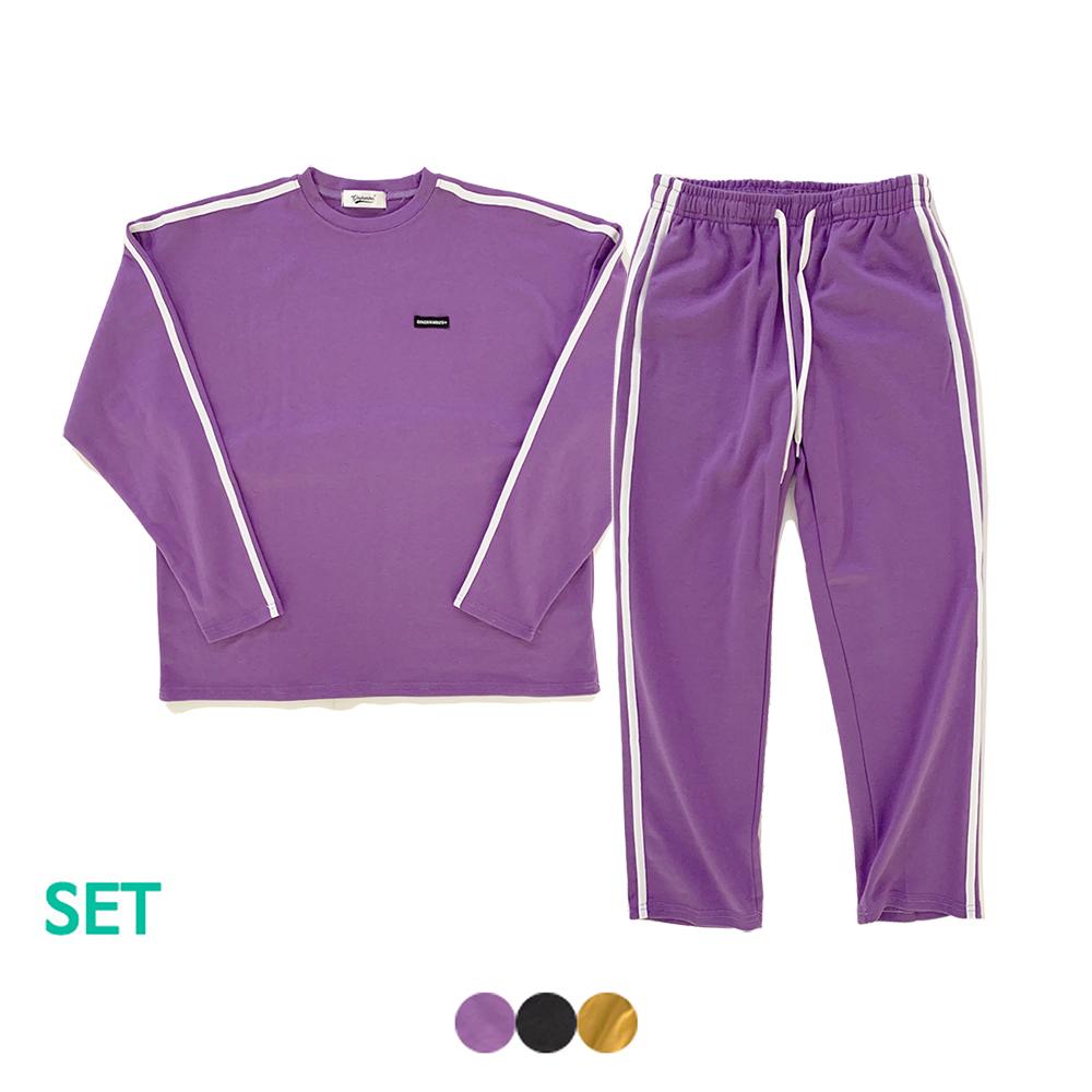 [1+1] TWO STRIPE SWEAT SHIRT+TWO STRIPE TRACK PANTS(3color)(여성용)