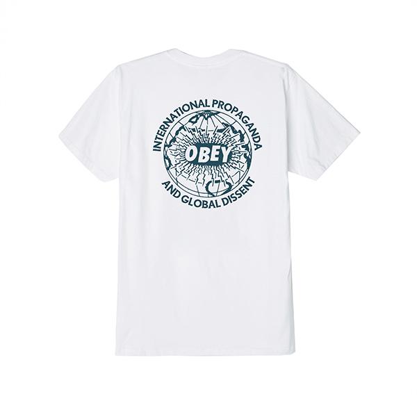오베이 반팔 OBEY GLOBAL DISSENT 163081902 WHITE