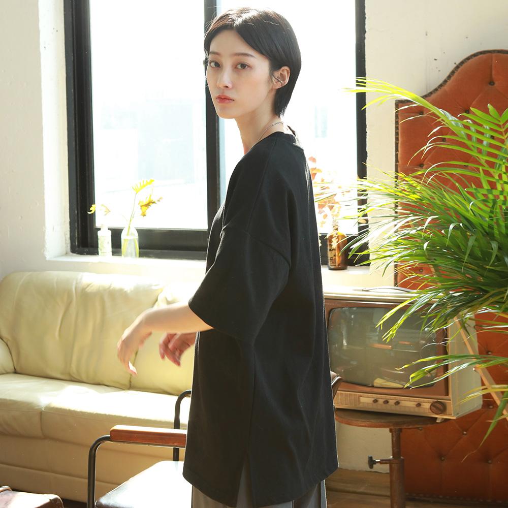 [제멋] 에디 오버핏 반팔티셔츠 블랙 KJST2189