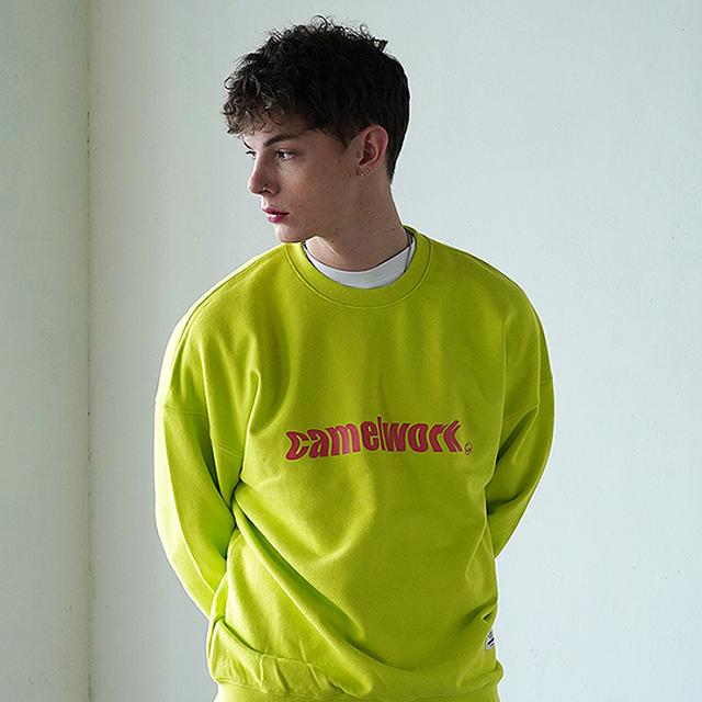 Noise Logo Over-Fit Sweatshirts(Neon)