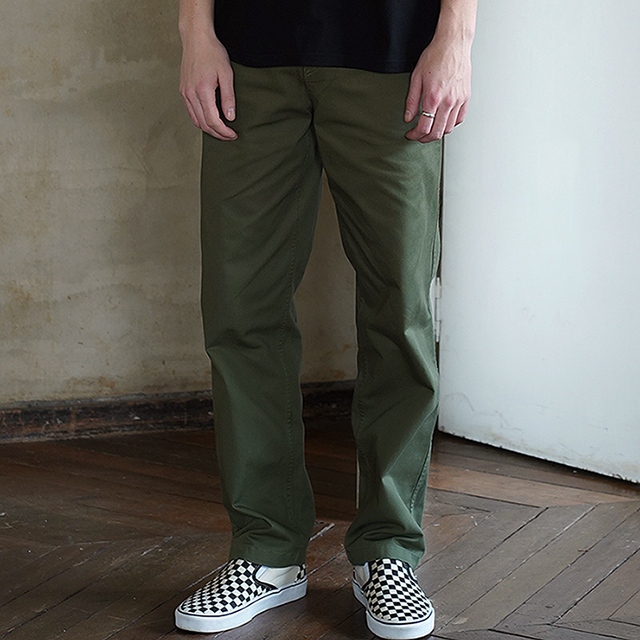 Regular-Fit Cotton Pants(Green)