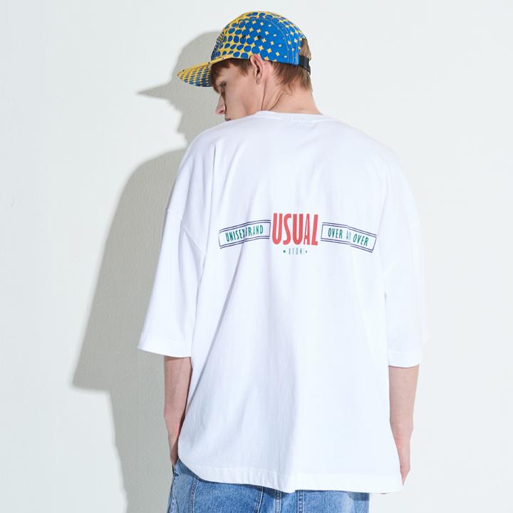 [단독할인]XTT002 루스 오버사이즈 티셔츠 (WHITE)